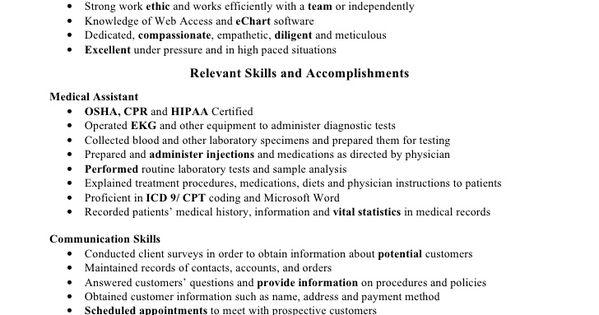 Medical Assistant Resume Skills 002 Http Topresume