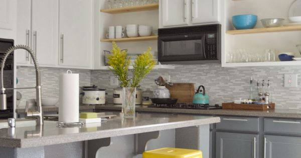 Best Love The White Top And Grey Bottom Cabinets I Like The 400 x 300
