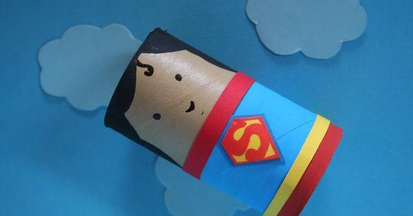 Superman De Rolinho De Ppapel Higienico Manualidades