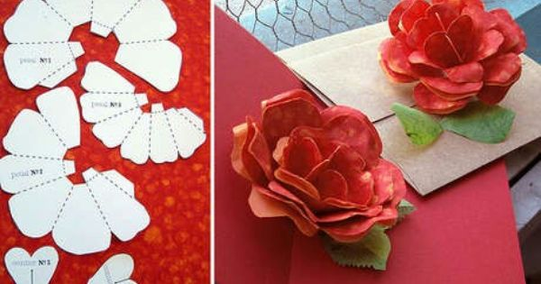 Pin By Azucena Reyes On Projects To Try Pop Up Flower Cards Pop Up Card Templates Paper Roses