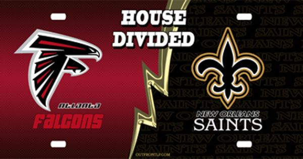 Falcons Saints House Divided License Plate License Plate Falcons Saints House Divided License Plate License T Novelty License Plates Divider House Divided