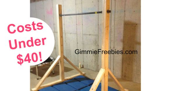 How to make a gymnastic practice mini bar at home under for How to build a mini bar at home