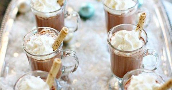 Christmas party hot cocoa, christmas hot chocolate, christmas drinks for christmas party
