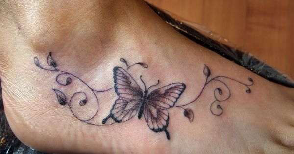 foot and ankle tattoos | Beautiful Butterfly Tattoo Designs : Butterfly Tattoos