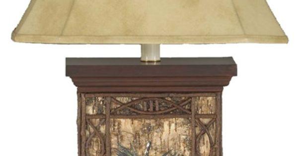 Blue Pine Ridge Birch Table Lamp | Cabin Decor For the ...