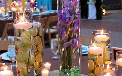 Centerpieces Ideas, Wedding Tables, Floating Candles, Diy Wedding Centerpieces, Simple Centerpieces, Fresh