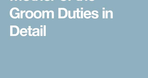 roles duties grooms speech