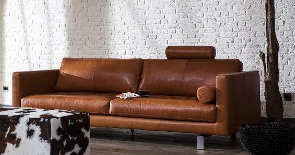 moderne bank combinatie bonbeno in stonewash leder cognac home pinterest banks interiors. Black Bedroom Furniture Sets. Home Design Ideas