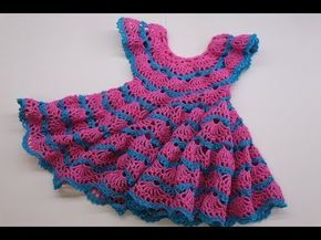 Vestido Crochet Para Niña De 2 Años Y Más Paso A Paso
