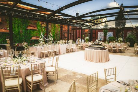 Wedding Reception Set Up In The La Pergola At Galleria Marchetti Pergola Pergola Plans Diy Pergola