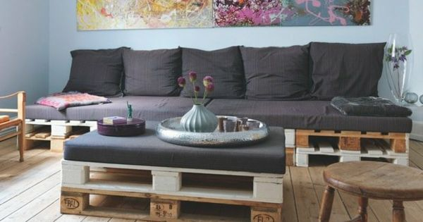 Sillon hecho con pallet palets pinterest sillones y for Sillon con palets reciclados