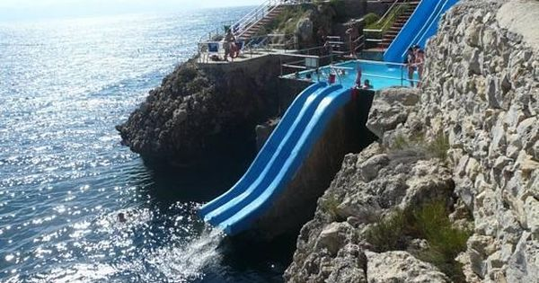 Slide to the Sea, Sicily, Italy. Wow! I want to visit if