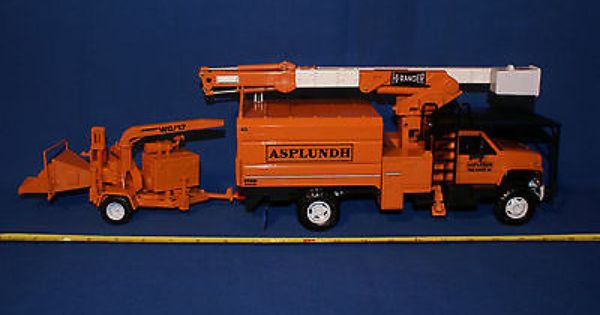 Asplundh Gmc Tree Trim Truck W Hi Ranger Boom Lift And