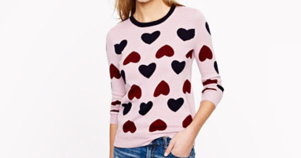 JCrew Holiday 2012 Heartbreaker Wool Sweater - Sz S