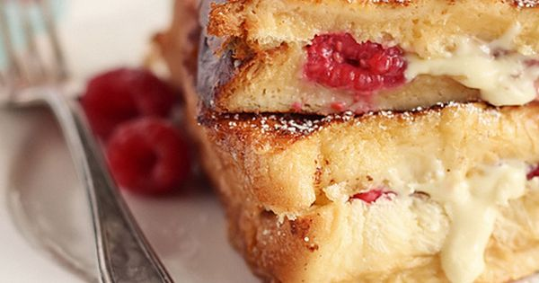 White Chocolate & Raspberry Brioche French Toast - an indulgent breakfast or