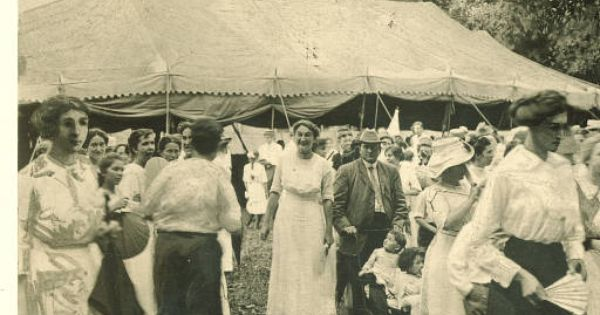 People leaving tent, 1910s :: Traveling Culture - Circuit ...