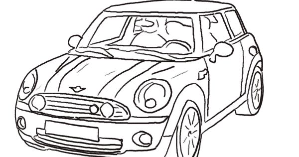 drawing of the mini cooper car | Ideas | Pinterest ...