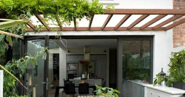 Glas Pergola Markise Toll Terrasse Modern Holz