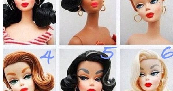 Pin-up Barbie doll hairstyles