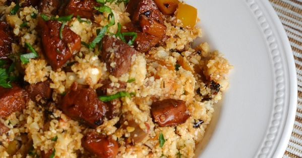 Cauliflower Dirty Rice with Andouille Sausage (Paleo) | Salts, Le'veon ...