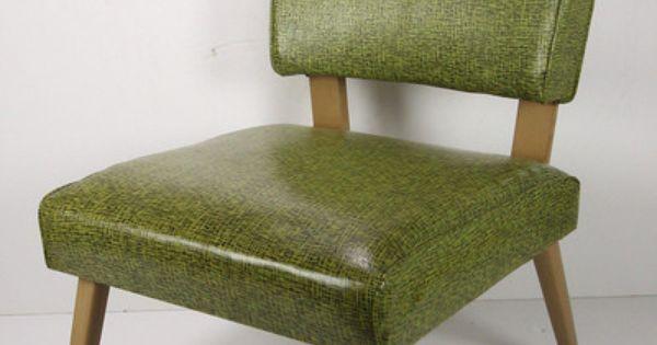 Vtg Mid Century Modern Viking Artline Corp Slipper Chair
