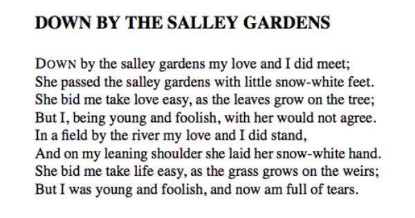 01bd283e7b25a058511c2702bbe51b46 - Down By The Salley Gardens Chords