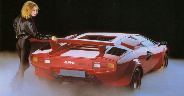 1982 Alpine Cassette Stereo Featuring A Countach