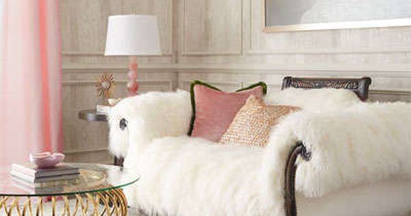 Fluffy Sheepskin White Couch By Old Hickory Tannery At