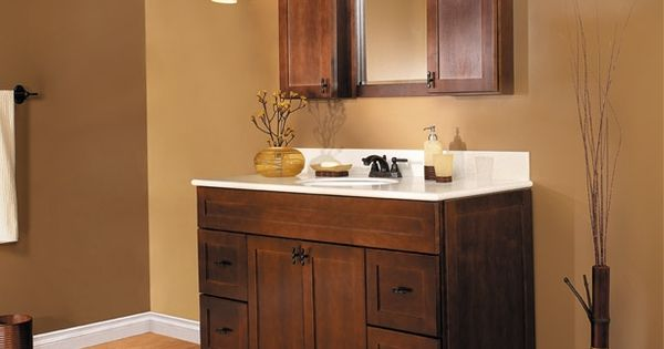 Java Shaker Doors Semi Custom Bathroom Cabinets Masterbath Cabinets By Rsi Home Products Inc