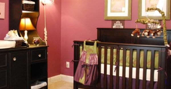 Baby Girl Nursery Ideas Really like the color scheme on this one,