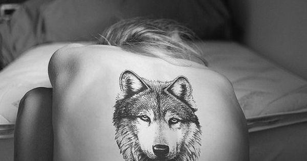 Wolf tattoo. Wolf is my spirit animal