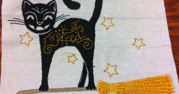 Halloween Embroidery Design From Janome Memory Craft 15000