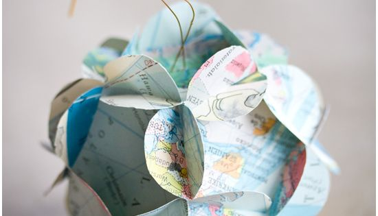 Old map folded paper ornament | 33 Adorable And Creative DIY Ornaments