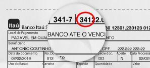 Foto De Um Boleto Contendo O Codigo Do Banco Itau 341 Boleto