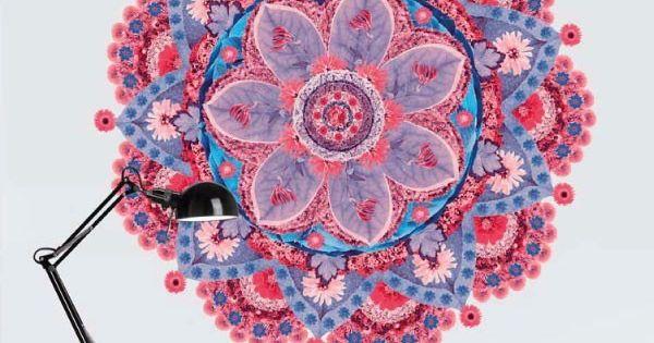 Flower mandala mandalas my vinilo vinilos decorativos for Donde conseguir vinilos decorativos