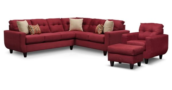 West Village Red Ii Upholstery Collection Value City Furniture 2 Pc Sectional Sofa