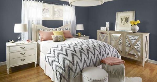interesting white gray bedroom | Bedroom:Design Coolest Teen Girl Bedroom Interesting Grey ...
