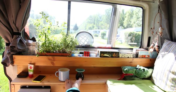 wood herbs vanning vanlife van vw t4 camping. Black Bedroom Furniture Sets. Home Design Ideas