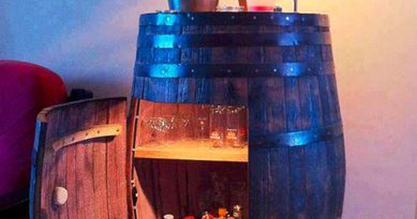 Meuble original compos de vraies barriques meuble for Meuble bar a boisson