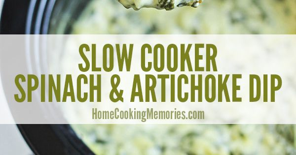 Slow Cooker Spinach and Artichoke Dip | Recipe | Artichoke Dip ...