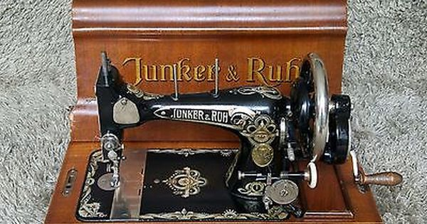 Sold *** | Junker & Ruh | Antique Sewing Machine | Karlsruhe Germany 1920 | Jugendstil | In … | Antique sewing machines, Vintage sewing machines, Sewing machine