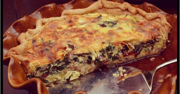 Chard & Pancetta Quiche | Home Sweet Home Cookin' | Pinterest | Quich...