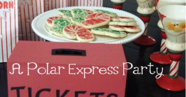 Polar Express party. I have to make the ticket box!!
