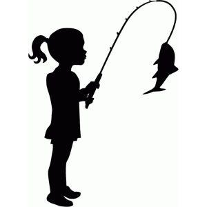 Little Girl Fishing Silhouette Fish Silhouette Silhouette Silhouette Design