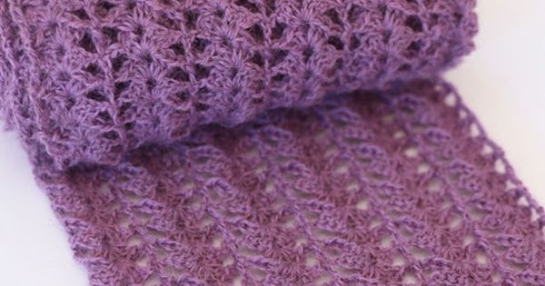 Crocheted Scarf {Free Pattern} Maureen Scarf Pattern by Lisa Cox