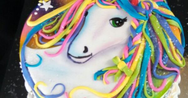 A Lisa Frank Inspired Unicorn Cake By Www Christinascakery