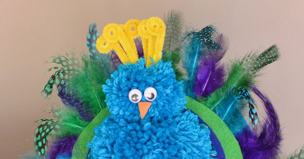 pom pom peacock craft how to make a pom pom peacock craft must do crafts and 5233