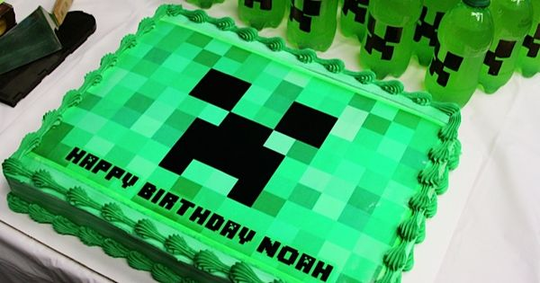 minecraft birthday cake minecraft creeper cake search appetizers 5906