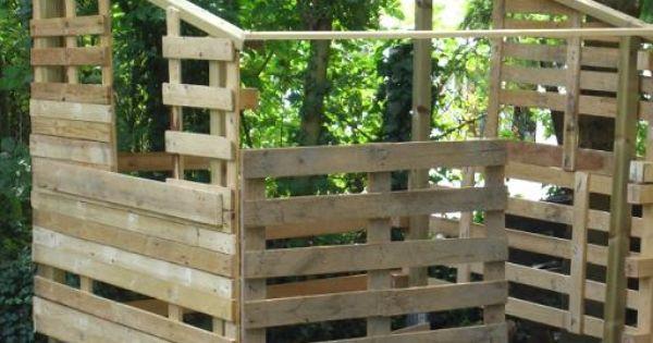 Cabane pour enfant faire avec des palettes cabane enfants pinterest - Transformer des palettes ...
