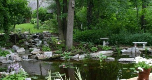 Pin By Deb On 3 Acre Landscaping Backyard Landscaping Backyard Water Feature Pond Landscaping